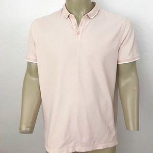 John Varvatos pink polo shirt size XL